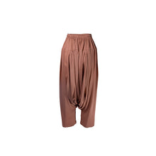 Load image into Gallery viewer, Terracotta Suede Feel Drop Crotch Pant