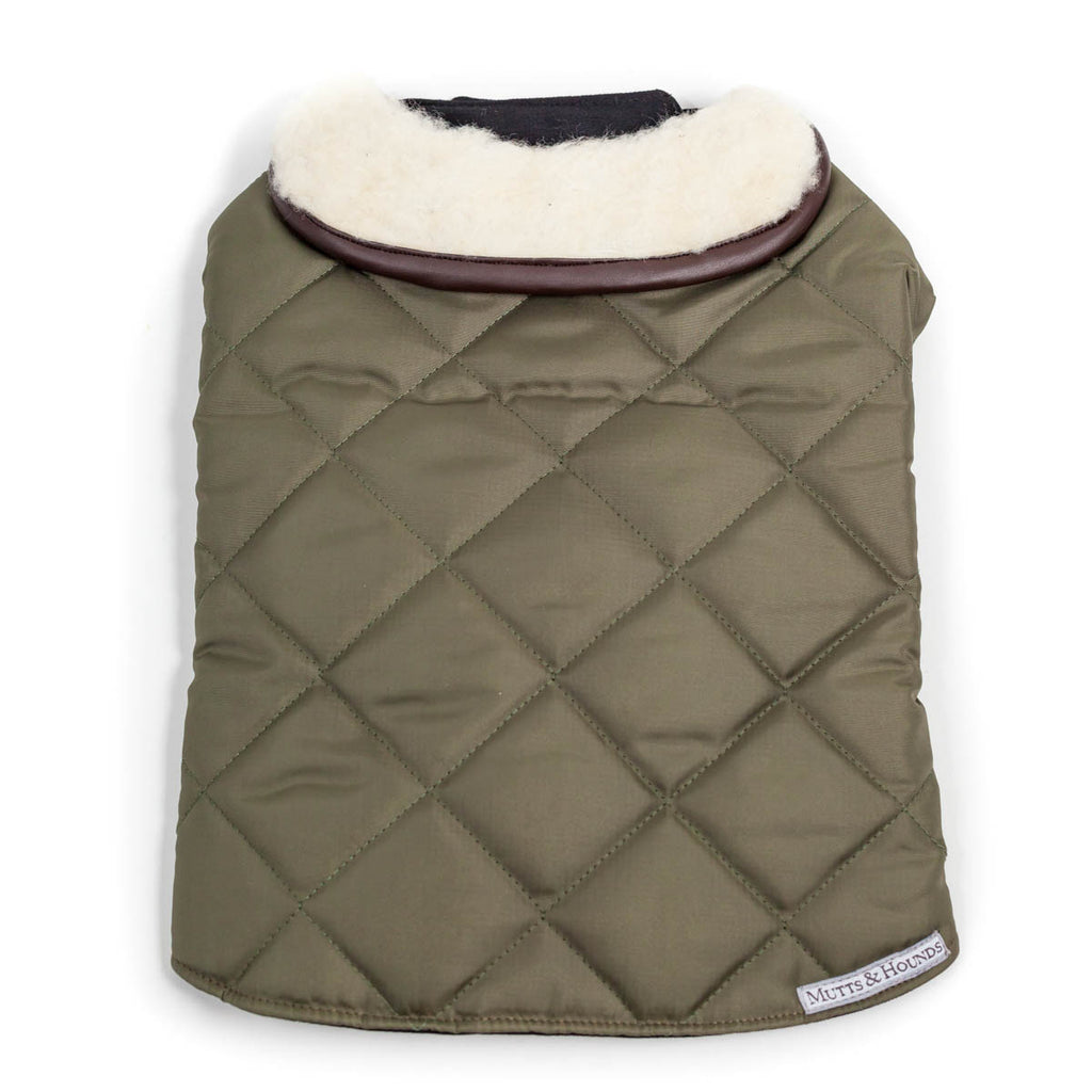 Olive Quilted Coat