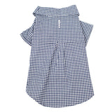Navy & White Gingham Shirt