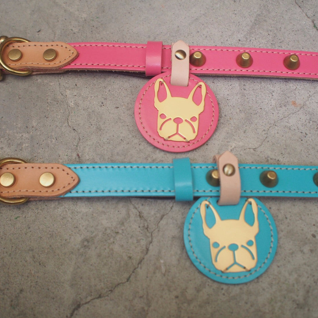 Studded Leather Collar (Free Engraving)
