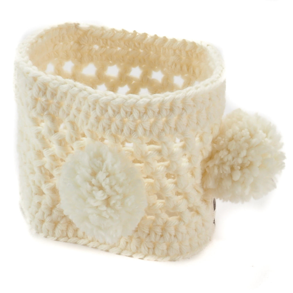 Cream Pom-Pom Neck Warmer