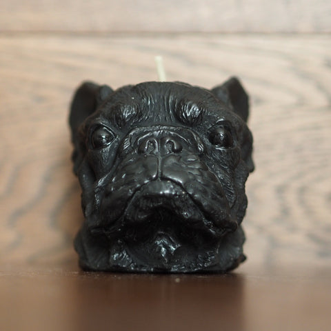 Black French Bulldog Candle