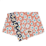 Pink & Navy Floral Reversible Scarf