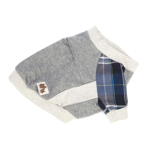 'Caleb' Checkered Sleeve Sweater