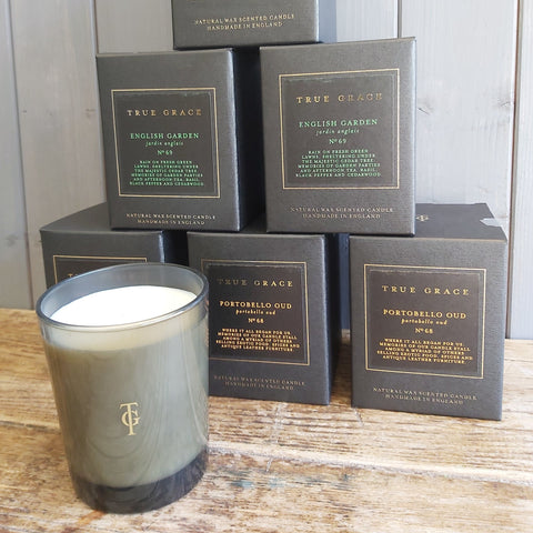 Scented candles from True Grace