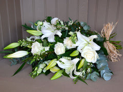 Hand Tied Sheath of Flowers white