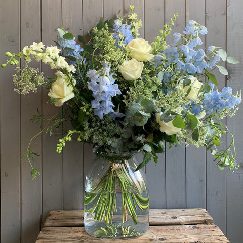 LSA luxury Vase Filled With Seasonal Blooms