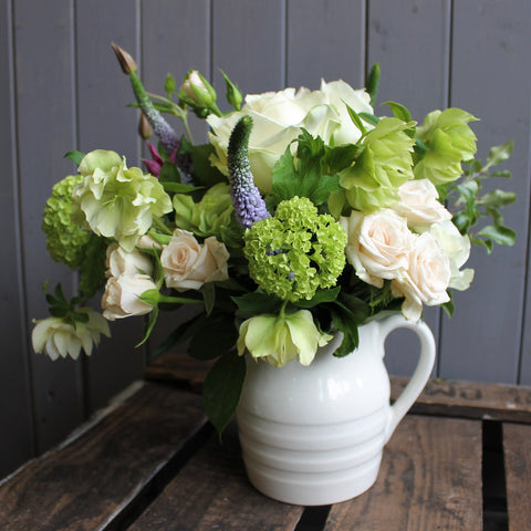 Dairy Jug with Seasonal Flowers