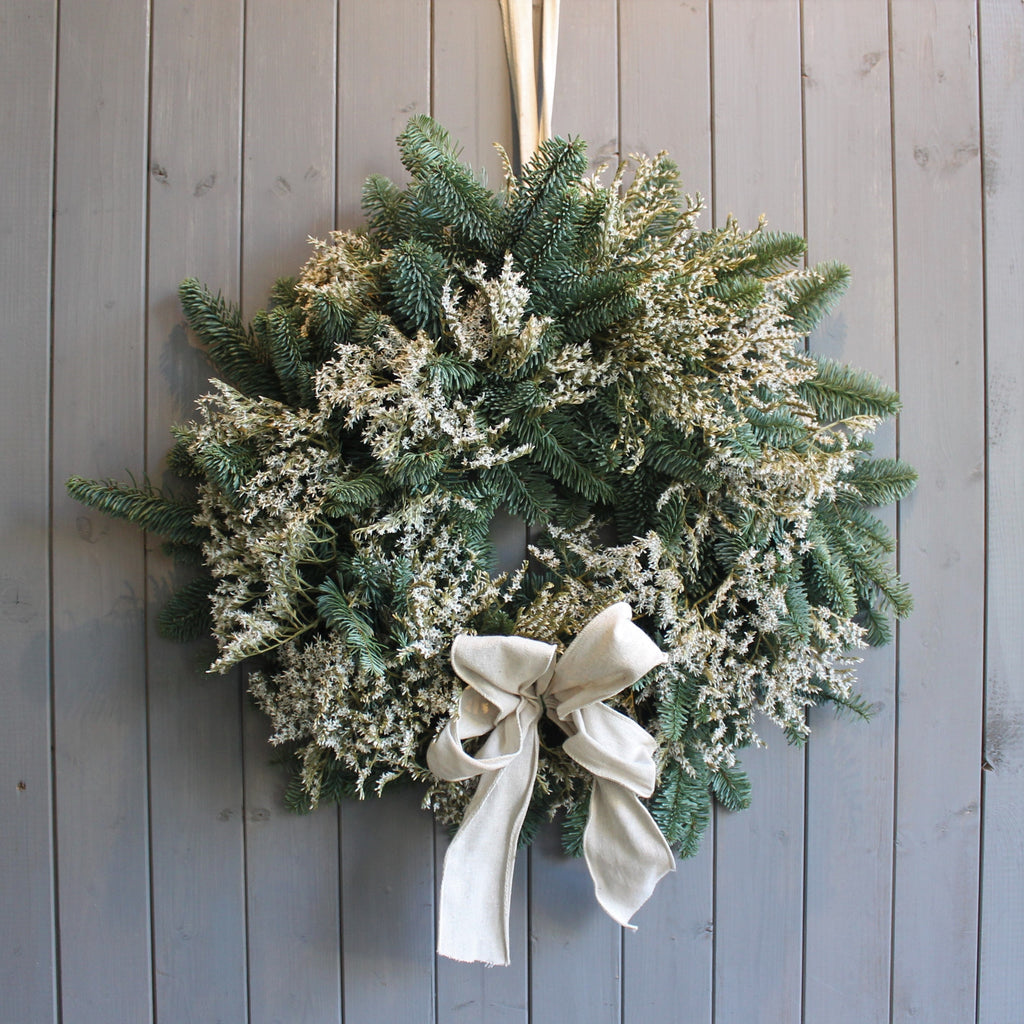 Pine and limonium wreath