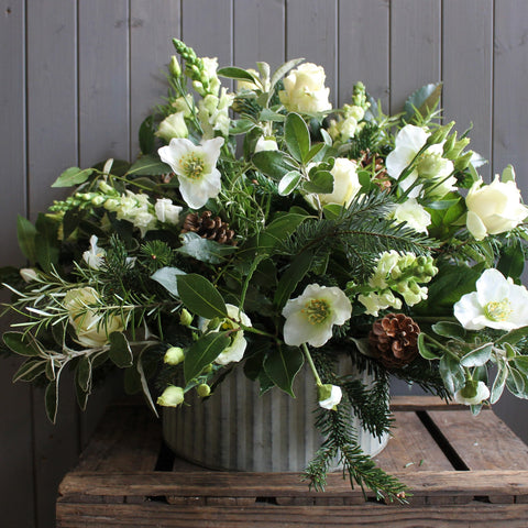 Luxury Christmas Arrangement In Whites