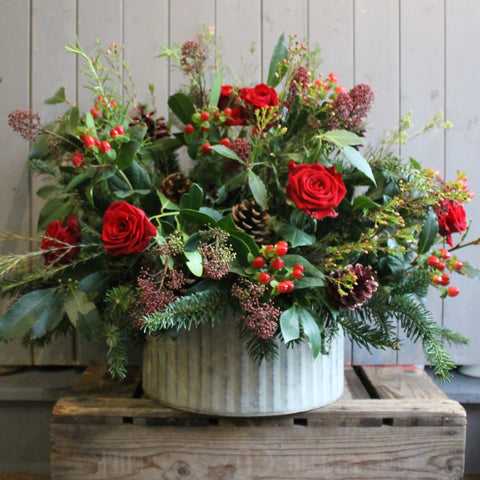 Luxury Christmas arrangement In Red