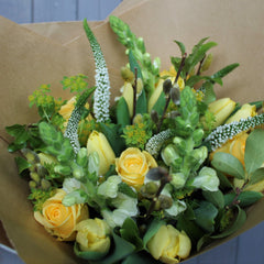 Classic Spring Posy in yellows and creams