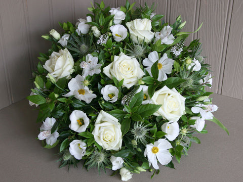 Posy Pad of  ivory flowers.