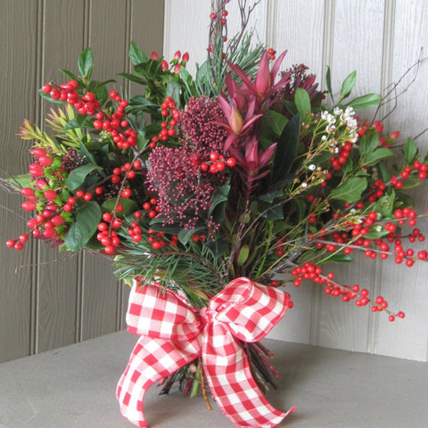 Christmas berry and foliage bouquet