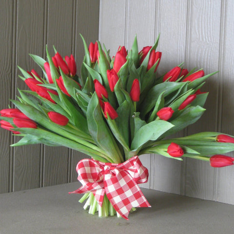Tulip Bouquet in red