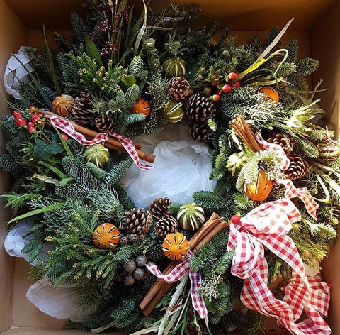 Christmas Wreath traditional green pine.