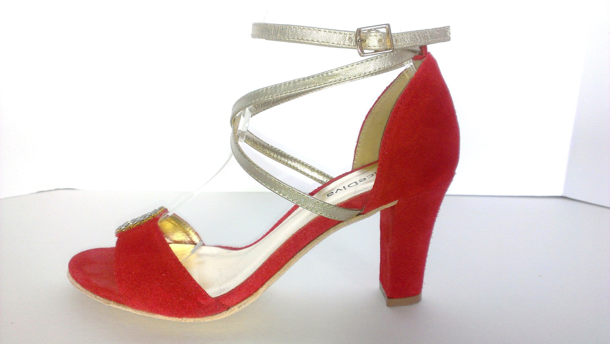 official photos 11902 384e7 Dance Diva Shoes Bling - Fire Red - 3 inch heel – NYC Ladies ...