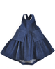 Denim Pleated Apron Dress