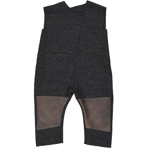 Wool Overall with leather patches