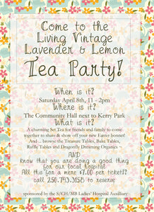 Living Vintage Lavender & Lemon Tea Party
