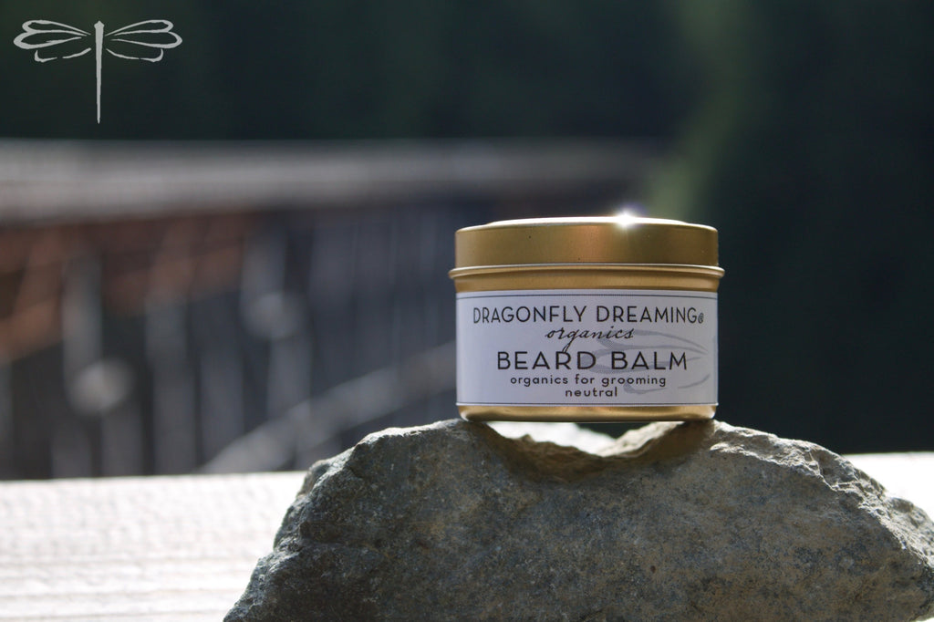 Dragonfly Dreaming® Neutral Beard Balm to calm and balm irritated skin