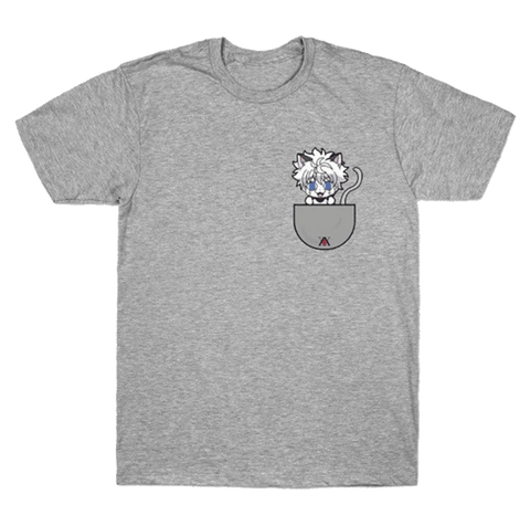 T-Shirt Hunter x Hunter Kirua Chat Gris