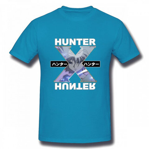 T-Shirt Hunter x Hunter <br /> Kirua Bleu Royal