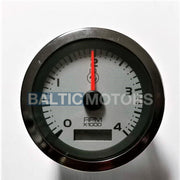 Tachometer with engine hour meter 0-4000 RPM ø 86mm