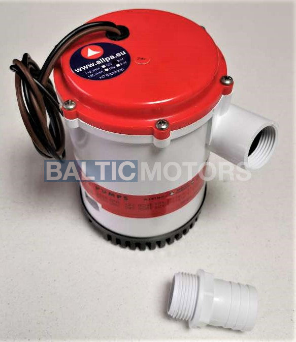 Water pump with check valve 24V 110L/min