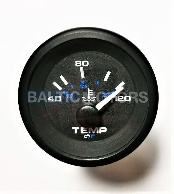 Water temperature gauge 40-120°C (100-250F°) (VDO) ø 52mm