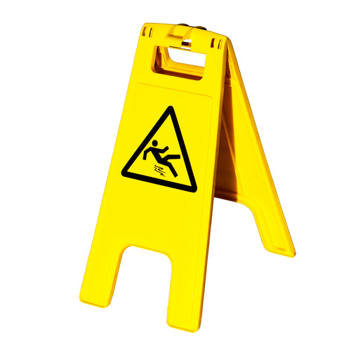 9 Ways To Keep Your Employees Safe When Cleaning floor caution yellow sign don't slip