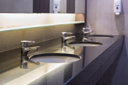Spring Cleaning Checklist For Your Commercial Building clean commercial restroom sink area