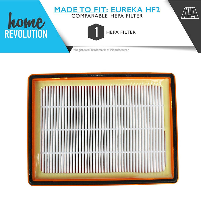 Eureka HF-2 Part # 61111, 61111A and 61111B for Eureka Ultra Smart Vac, Smart Vacuum 4800 Models, Comparable HEPA Filter. A Home Revolution Brand Quality Aftermarket Replacement