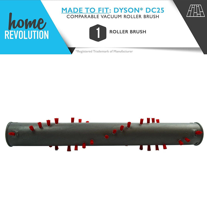 Dyson DC25 Part # 917391-01, 914123-01 for DC25 Ball Upright Models, Comparable Washable Roller Brush. A Home Revolution Brand Quality Aftermarket Replacement