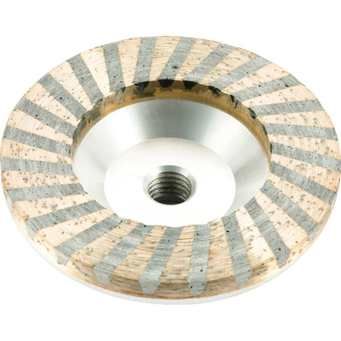 Diamond Productions Aluminum Turbo Cupwheel Resin Filled - Medium