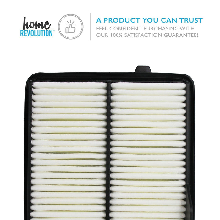 Cabin Part # A26052 & CA10650 for Honda Fit, Comparable Washable Air Panel Filter. A Home Revolution Brand Quality Aftermarket Replacement
