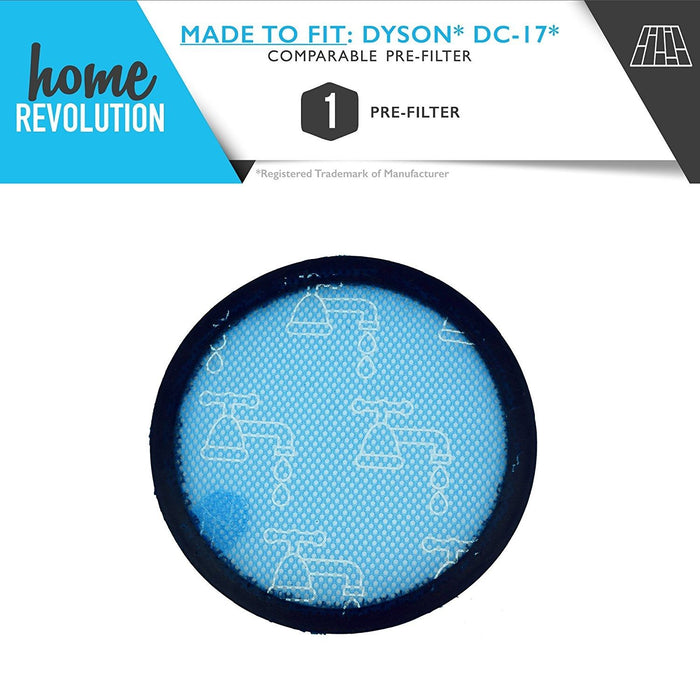 Dyson DC17 Part # 91123601 for Dyson Animal, Total Clean, All Floors, Absolute, Asthma and Allergy Models, Comparable Pre-Filter. A Home Revolution Brand Quality Aftermarket Replacement