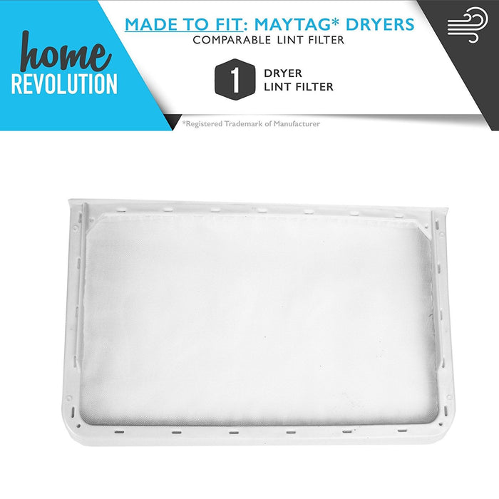 Maytag Dryer Part # 33001808 for Admiral, JennAir, Kenmore, Magic Chef, Norge and Whirlpool, Comparable Dryer Lint Filter. A Home Revolution Brand Quality Aftermarket Replacement