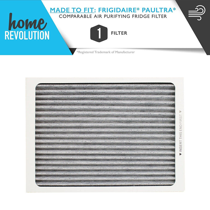 Frigidaire Part # PAULTRA, EAFCBF, 242061001, 241754001 for Pure Air Ultra, Comparable Air Purifying Refrigerator Filter. A Home Revolution Brand Quality Aftermarket Replacement.