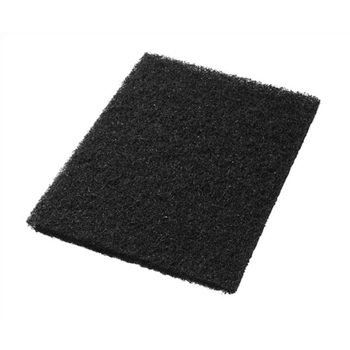 "Americo 14"" x 20"" Black Stripping Floor Pads (Pack of 5)"