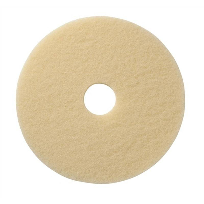 "Americo Image-Beige Ultra High Speed Burnishing Floor Pads - 15"" (Pack of 5)"