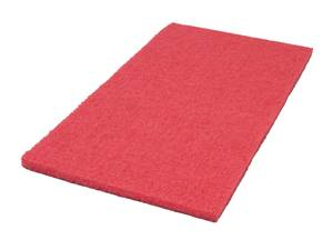 Americo Red Rectangular Buffing Floor Pads