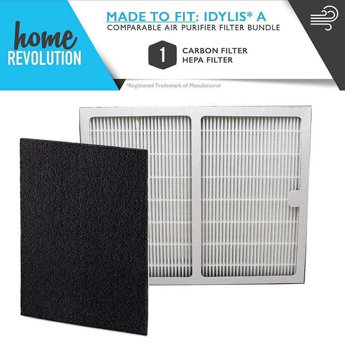 Idylis A Style Part # IAF-H-100A for Idylis Air Purifiers IAP-10-100 and IAP-10-150 Models, Comparable HEPA Air Purifier Filter. A Home Revolution Brand Quality Aftermarket Replacement