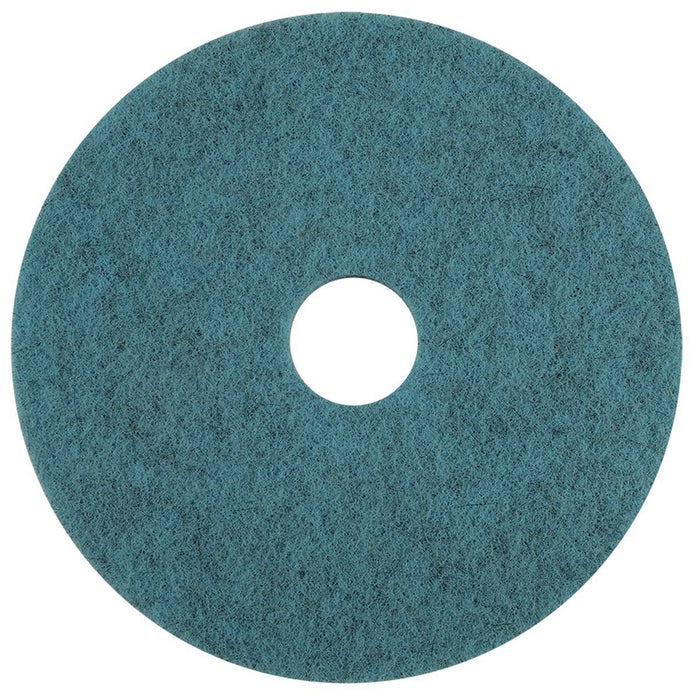 "Americo Natural Blue Blend High Speed Burnishing Floor Pads - 18"" (Pack of 5)"