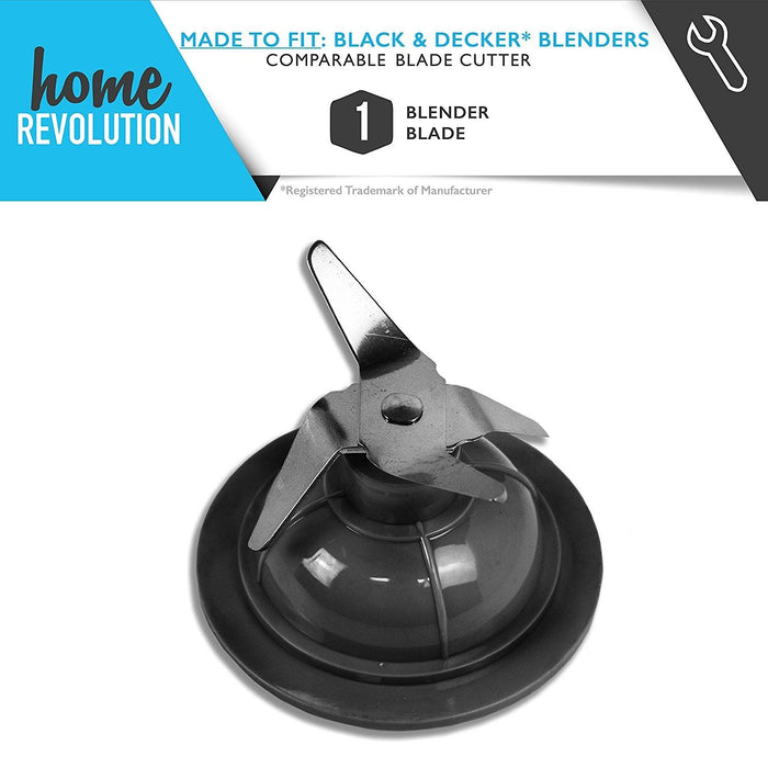 Black & Decker Blender Part # 14291600 for BL1900, BL3900, BL4900 Models, Comparable Blade Cutter. A Home Revolution Brand Quality Aftermarket Replacement