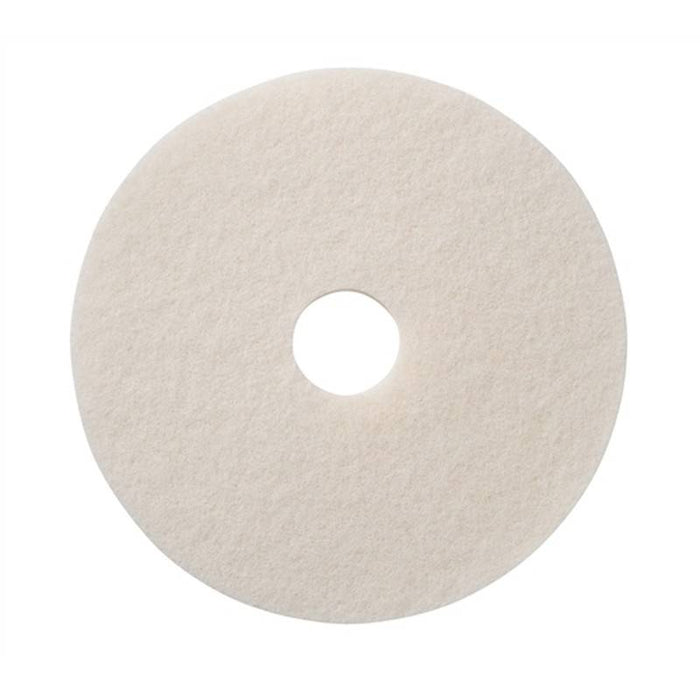 "Americo 12"" White Super Polishing Floor Pads (Pack of 5)"