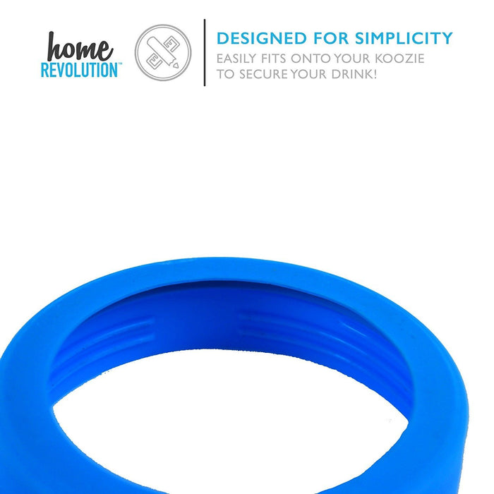 HomeBev Can-Can Koozie Cool Blue Lid Gasket. A Home Revolution Brand