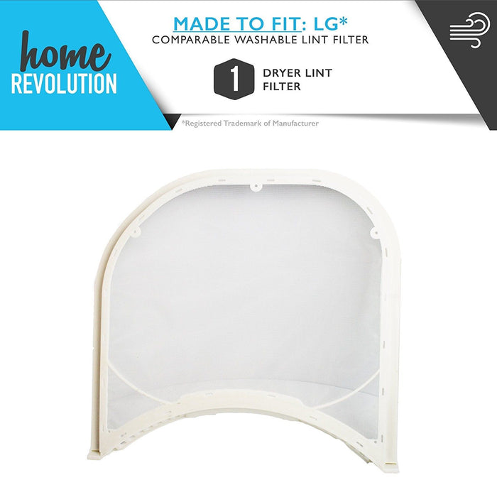 LG Dryer ADQ56656401 5231EL1003B 5231EL1003B 5231EL1003E 5231EL1002E Kenmore ADQ56656401 Comparable Washable Reusable Lint Filters. A Home Revolution Brand Quality Aftermarket Replacement