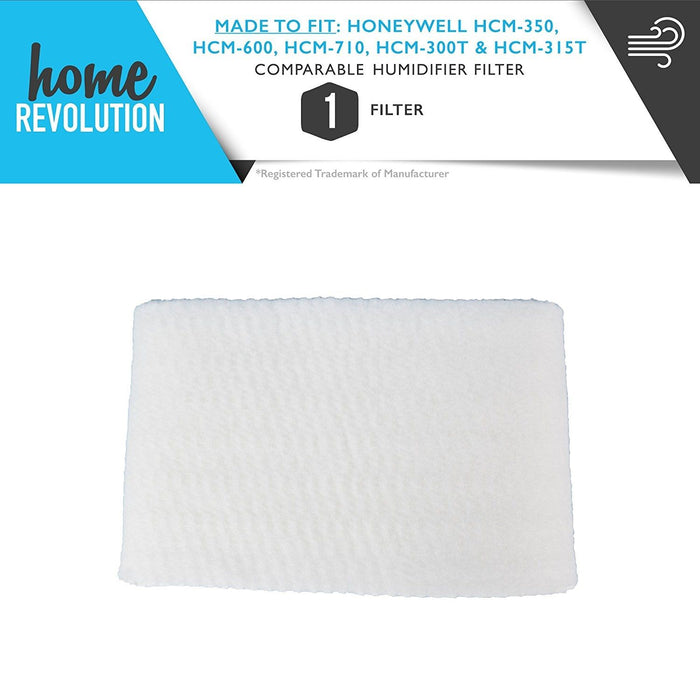 Humidifier Filter HCM350 HAC-504AW HCM-600, HCM-710, HCM-300T HCM-315T Honeywell Comparable Wick. A Home Revolution Brand Quality Aftermarket Replacement.