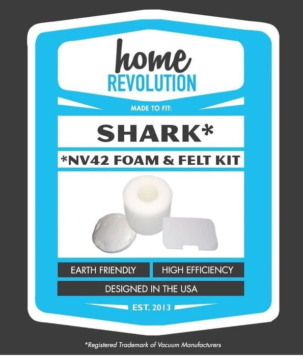 Shark NV42 Part # XFF36 for Navigator Upright UV402 and NV42 Models, Comparable Foam and Felt Filter. A Home Revolution Brand Quality Aftermarket Replacement